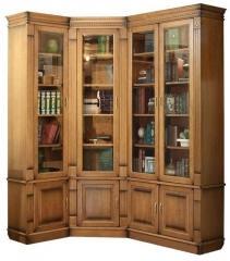 Книжный шкаф  угловой «Верди Люкс 24»