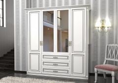 Шкаф Лирона белый  4СТ