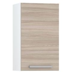 КРДА. Кухня Лима Шкаф навесной 400, цвет белый/ясень шимо светлый, ШхГхВ 40х32х68 см., фасады ДСП, универсальная дверь