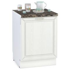 Кухня Маргарита белое дерево Панель для посудомоечной машины 600, ШхВ 60х68 см., только фасад, цоколя НЕТ