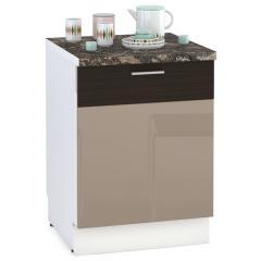 Кухня Адель мокко глянец/венге шёлк Панель для посудомоечной машины 600, ШхВ 60х68 см., только фасад, цоколя НЕТ