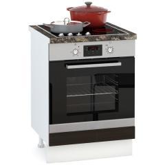 Кухня Адель мокко глянец/венге шёлк Стол 600 под встраиваемую технику, ШхГхВ 60х52х81 см.