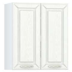 Кухня Маргарита белое дерево Шкаф навесной 600 2 двери, ШхГхВ 60х32х68 см., можно сушку установить