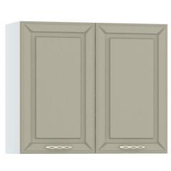 Кухня Маргарита имбирь структурный Шкаф навесной 800 2 двери, ШхГхВ 80х32х68 см., можно сушку установить