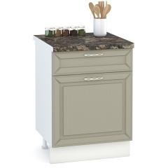 Кухня Маргарита имбирь структурный Стол 600 1 ящик + 1 дверь, ШхГхВ 60х52х81 см., универсальная дверь