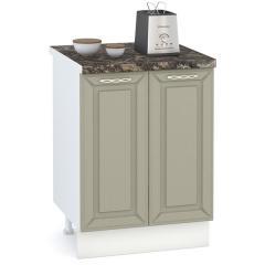 Кухня Маргарита имбирь структурный Стол 600 2 двери, ШхГхВ 60х52х81 см., можно установить мойку или варочную панель