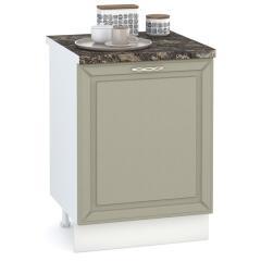 Кухня Маргарита имбирь структурный Стол 600 1 дверь, ШхГхВ 60х52х81 см., универсальная дверь, можно установить мойку или варочную панель