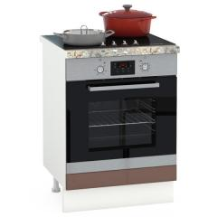 Кухня Сандра капучино глянец/белый Стол 600 под встраиваемую технику, ШхГхВ 60х52х81 см.