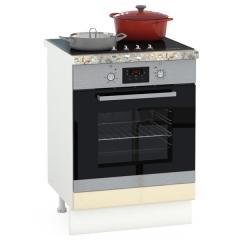 Кухня Сандра ваниль глянец/белый Стол 600 под встраиваемую технику, ШхГхВ 60х52х81 см.