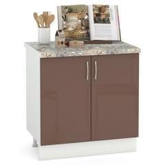 Кухня Сандра капучино глянец/белый Стол 800 2 двери, ШхГхВ 80х52х81 см., возможность установки мойки