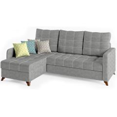 Квадро диван угловой, ткань ТД 961, ШхГхВ 234х163х95 см., сп. м. 158х213 см., механизм дельфин Калипсо, универсальная сборка