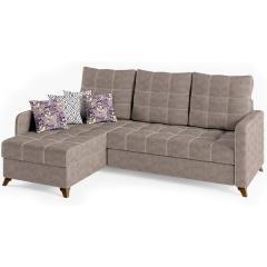 Квадро диван угловой, ткань ТД 962, ШхГхВ 234х163х95 см., сп. м. 158х213 см., механизм дельфин Калипсо, универсальная сборка