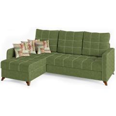 Квадро диван угловой, ткань ТД 964, ШхГхВ 234х163х95 см., сп. м. 158х213 см., механизм дельфин Калипсо, универсальная сборка