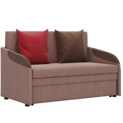 Громит диван-кровать 120, ткань ТД 132(Осло димроуз/ред/шоколад),ШхГхВ 130х80(200)х86(68) см.,сп. м.120х195 см.,механизм: выкатной,бельевой ящик