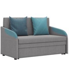 Громит диван-кровать 120, ткань ТД 133(Осло грей/лагун/азур),ШхГхВ 130х80(200)х86(68) см.,сп. м.120х195 см.,механизм: выкатной,бельевой ящик