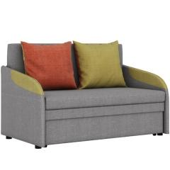 СНЯТО!Громит диван-кровать 120, ткань ТД 174(Осло грей/мустард/манго),ШхГхВ 130х80(200)х86(68) см.,сп. м.120х195 см.,механизм: выкатной,бельевой ящик