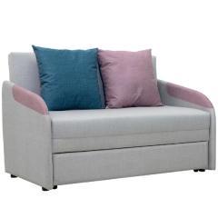 Громит диван-кровать 120, ткань ТД 175(Осло линен/димроуз/лагун),ШхГхВ 130х80(200)х86(68) см.,сп. м.120х195 см.,механизм: выкатной,бельевой ящик