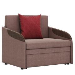 Громит диван-кровать 85, ткань ТД 132(Осло димроуз/ред/шоколад),ШхГхВ 95х80(200)х86(68) см.,сп. м.85х195 см.,механизм: выкатной,бельевой ящик