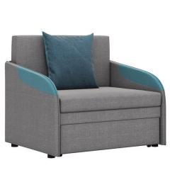 Громит диван-кровать 85, ткань ТД 133(Осло грей/лагун/азур),ШхГхВ 95х80(200)х86(68) см.,сп. м.85х195 см.,механизм:выкатной,бельевой ящик