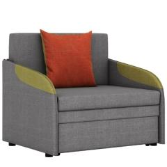 СНЯТО!Громит диван-кровать 85,ткань ТД 174(Осло грей/мустард/манго), ШхГхВ 95х80(200)х86(68)см.,сп. м. 85х195 см.,механизм:выкатной,бельевой ящик