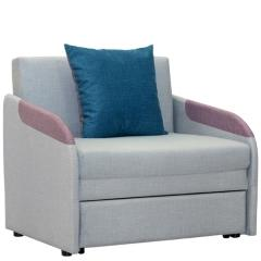 Громит диван-кровать 85, ткань ТД 175(Осло линен/димроуз/лагун),ШхГхВ 95х80(200)х86(68)см.,сп. м.85х195 см.,механизм: выкатной, бельевой ящик