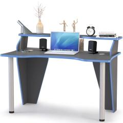 Индиго Стол компьютерный 12.61, цвет тёмно серый/граффити, ШхГхВ 135,4х70х91,5 см., можно установить подсветку 12.61 (L=1100 мм.)