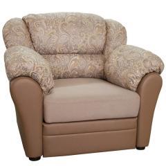 Фламенко 2 кресло для отдыха, ткань 40502, ШхГхВ 105х100х100 см., есть бельевой ящик