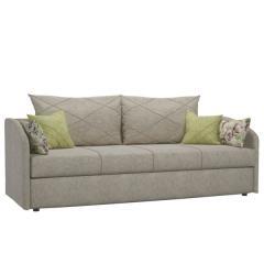 Лавли диван-кровать, ткань ТД 137(Медли Биси/подушки: Медли Сейдж и Fibre Кроли), ШхГхВ 213х80х84(70) см., сп. м. 75х198 см., короб для белья