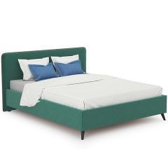 Кровать интерьерная Миа + ортопед, ткань Купер 16 жаккард (изумрудный), ШхГхВ 185х216х100 см., сп.м. 1600х2000, б/м