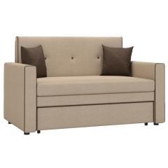 Найс диван-кровать 120, ткань ТД 111(Алма 26/Алма 40), ШхГхВ 146х80(200)х84(77) см., сп. м. 120х195 см., механизм трансф.: выкатной, короб для белья