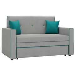 Найс диван-кровать 120, ткань ТД 112(Алма 25/Алма 21), ШхГхВ 146х80(200)х84(77) см., сп. м. 120х195 см., механизм трансф.: выкатной, короб для белья