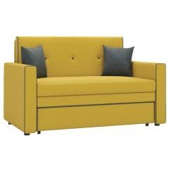 Найс диван-кровать 120,тканьТД 113(Алма 27/Алма 24),ШхГхВ 146х80(200)х84(77) см.,сп. м.120х195 см.,механизм трансф.: выкатной, короб для белья