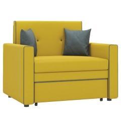 Найс диван-кровать 85,ткань ТД 113(Алма 27/Алма 24),ШхГхВ 111х80(200)х84(77) см.,сп. м. 85х195 см.,механизм трансф.: выкатной, короб для белья