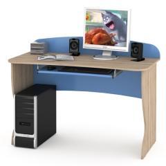 КРДА??? Ника 431Р Стол комбинированный, цвет бук песочный/капри синий, ШхГхВ 123х59х90 см.