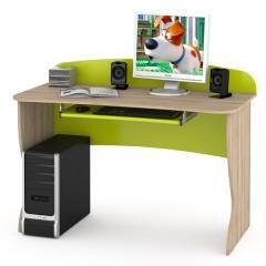 КРДА??? Ника 431Р Стол комбинированный, цвет бук песочный/лайм зелёный, ШхГхВ 123х59х90 см.
