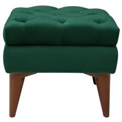 Парадиз пуф, ткань ТП 106 Силкшайн 65 (нефритовый зелёный), ШхГхВ 45х45х41 см.