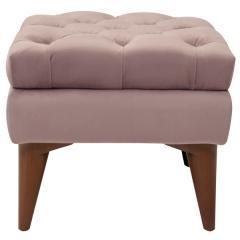 Парадиз пуф, ткань ТП 108 Силкшайн 28 (серебристый розовый), ШхГхВ 45х45х41 см.