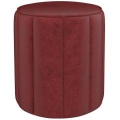 Вояж пуф, ткань ТП 162 Легион оксблад (оксидный красный), ШхГхВ 40х40х43 см.