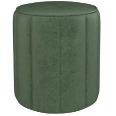 Вояж пуф, ткань ТП 163 Легион грин (хвойный зелёный), ШхГхВ 40х40х43 см.