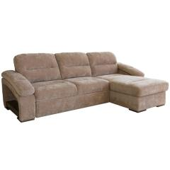 Рокси-1 диван-кровать угловой, ткань 40430, ШхГхВ 280х174х98 см., сп. м. 128х225 см., механизм - Дельфин Калипсо на металлокаркасе, ун. сборка