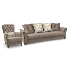 Ирис диван-книжка+кресло, ткань ТД 960, ШхГхВ 245х106х89 + 83х83х92 см., сп. м. 131х195 см., механизм трансформации книжка с 0 стенкой