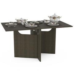 Дублин-4060 Стол раскладной, цвет венге, ШхГхВ 147х83х76 см., 9х83х76 см. сложенный