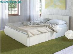 Кровать Афина c мягким изголовьем цвет-белый