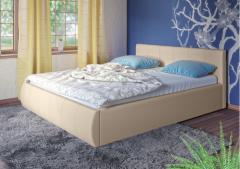 Кровать Афина c мягким изголовьем цвет-бежевый
