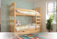 Кровать-трансформер Двухъярусная точёная