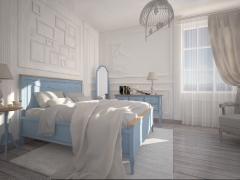 Спальный гарнитур Леонтина голубой