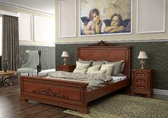Кровать Брайтон с резьбой