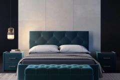 Кровать Верона с мягким изголовьем